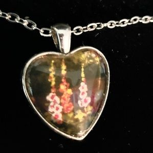 Custom Made Floral Heart Necklace